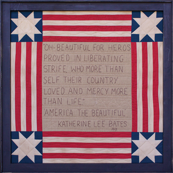 America The Beautiful framed picture