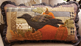 Autumn Time patchwork and applique pillow pattern by Norma Whaley