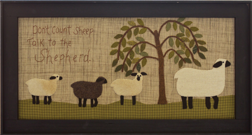 Counting Sheep applique picture