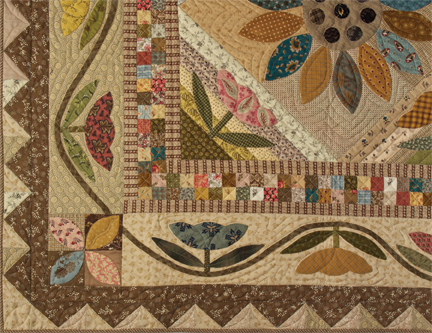 Field Of Flowers applique and patchwork quilt pattern by Norma Whaley