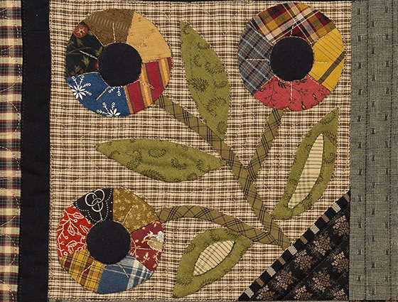 Flowers Outside My Window Quilt by Norma Whaley