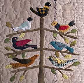 Friendship is a Sheltering Tree applique wall hanging quilt pattern  by Norma Whaley