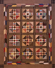 Gathered IN Time patchwork quilt pattern by Norma Whaley