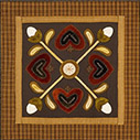 Heart Table Mat quilt pattern by Norma Whaley
