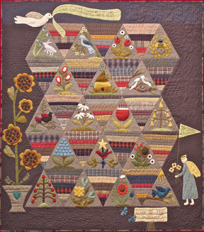 How Does Your Garden Grow applique and patchwork quilt by Norma Whaley