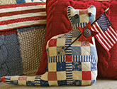 One Patriotic Cat patchwork quilt pillow pattern by Norma Whaley