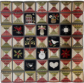 Potholder Winter Quilt by Norma Whaley