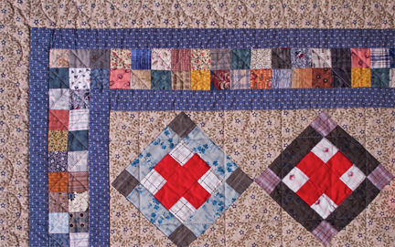 Red Cross Quilt detail