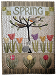Spring applique wall hanging quilt pattern by Norma Whaley