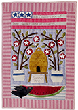 Summer Time applique wall hanging quilt pattern by Norma Whaley