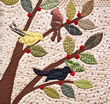 The Bird Tree detail by Norma Whaley