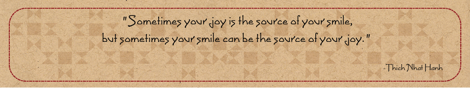 Joy and smile quote