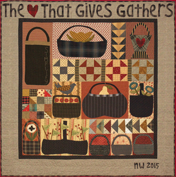 The Gathering Baskets quilt by Norma Whaley