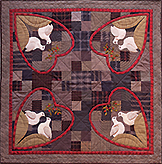 Love Birds patchwork quilt pattern by Norma Whaley