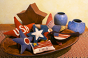 Patriotic Stars applique quilt pillow pattern by Norma Whaley