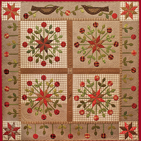 Star Garden applique quilt pattern by Norma Whaley